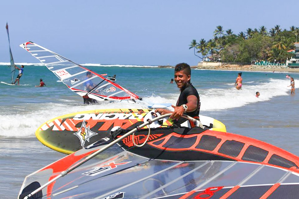 Windsurfing in Cabarete, Dominican Republic