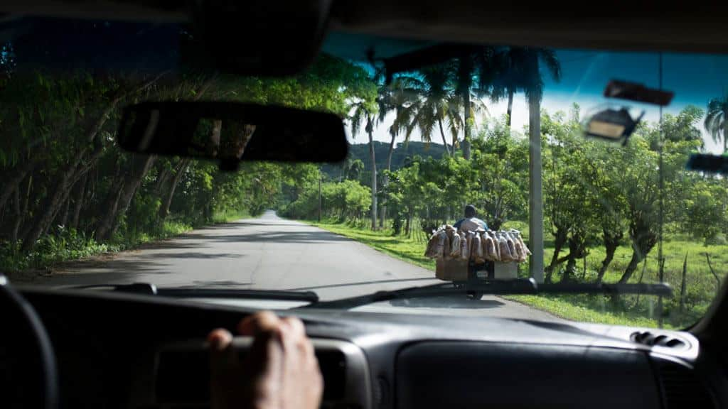 Traffic in Cabarete, Dominican Republic